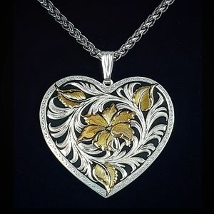 MT Silversmiths Sheridan Heart Western Necklace